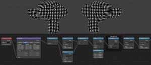 shader nodes to make an even dots pattern